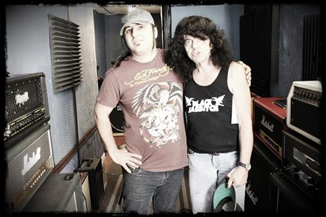 Blue Embrace Oz Chiri recording with bass legend Jimmy Bain (DIO, Rainbow)